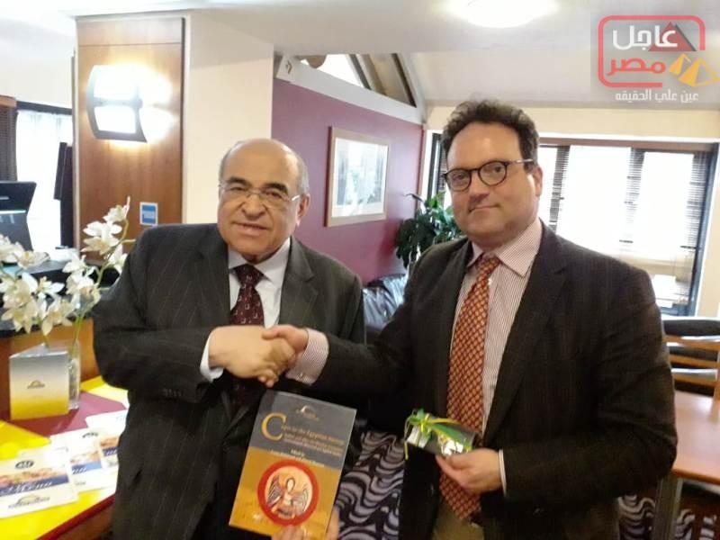 Photo of إهداء من مكتبة الإسكندرية لجامعة ليفربول هوب البريطانية