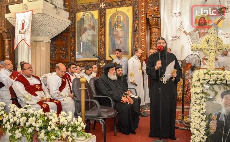 صورة بالصور…نائب محافظ الإسكندرية يشارك في مراسم جنازة راعي كنيسة الشهيد مارمينا فلمنج ، نيابة عن محافظ الإسكندرية