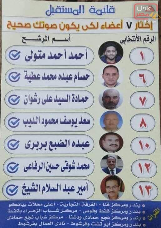 Photo of أمير الشيخ وقائمة المستقبل لإنتخابات الغرفة التجارية ببندر ومركز قنا السبت المقبل