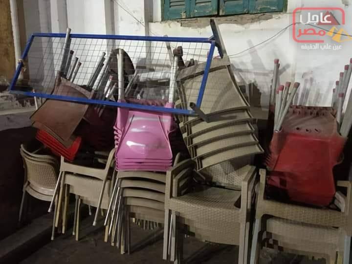 صورة حملة رفع اشغالات الطريق في مركز مغاغة/ محافظة المنيا