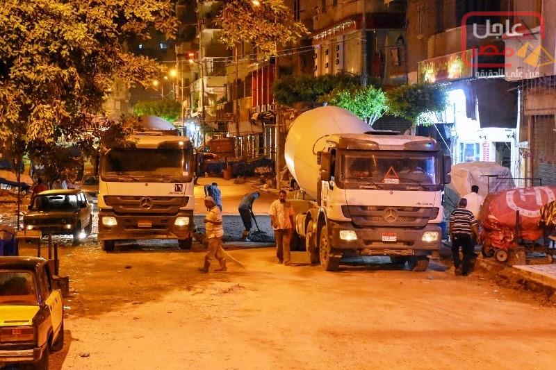 صورة محافظة الإسكندرية تتابع أعمال رصف ورفع كفاءة وتأهيل الطرق