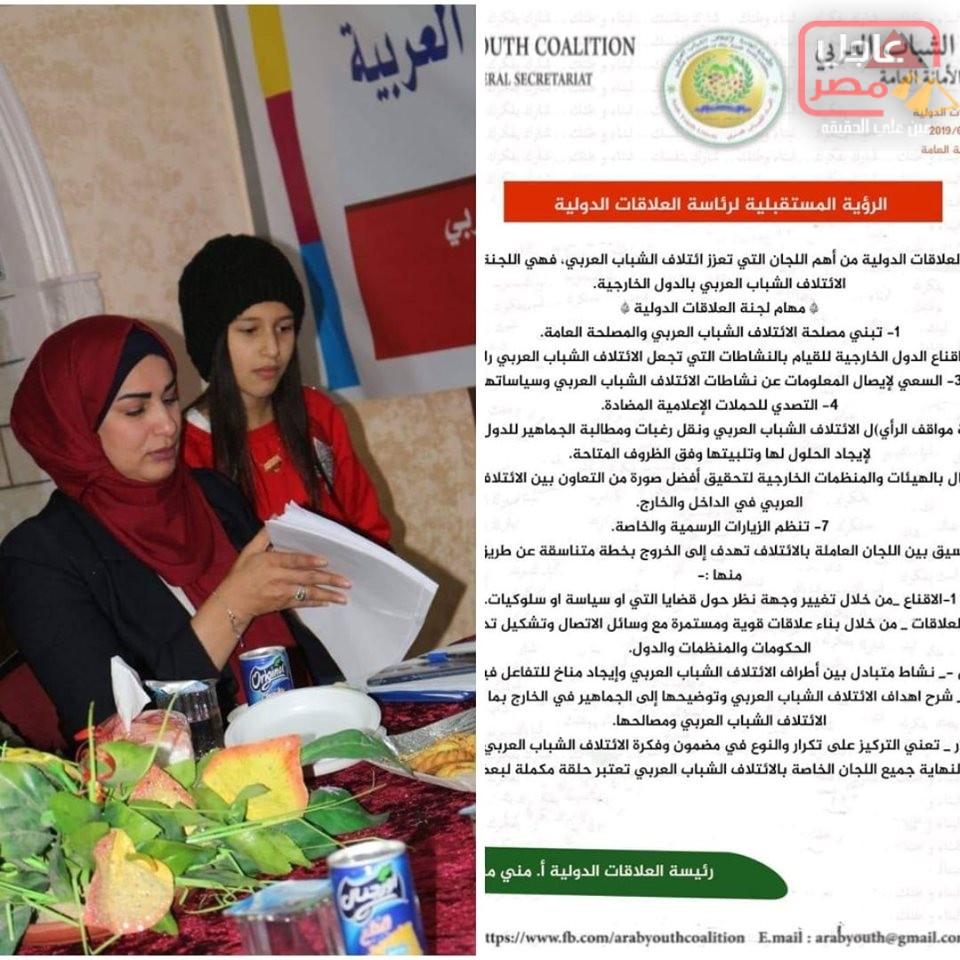 Photo of رئيسة العلاقات الدولية لائتلاف الشباب العربي تعتمد الرؤية المستقبلية للجان الفرعية بالعلاقات الدولية