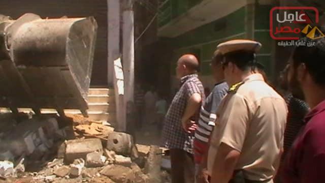 Photo of إزالة 35حالة اشغال بحي جنوب مدينة المنيا