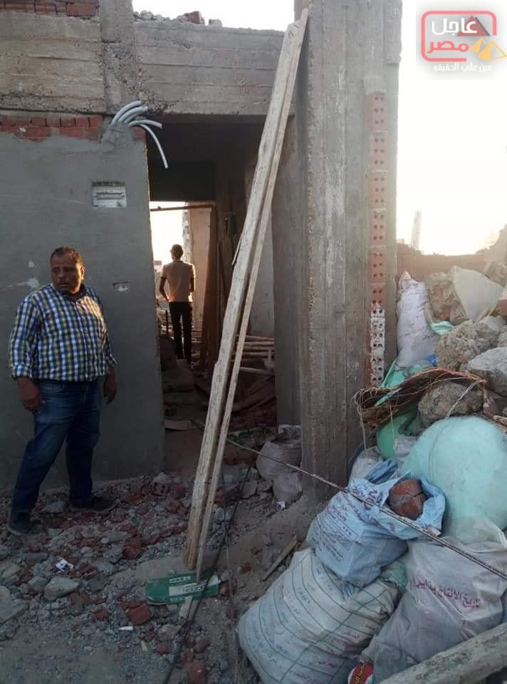 صورة الاسكندرية تصدي لأعمال بناء مخالف بالجمرك وحملة مكبرة لإزالته