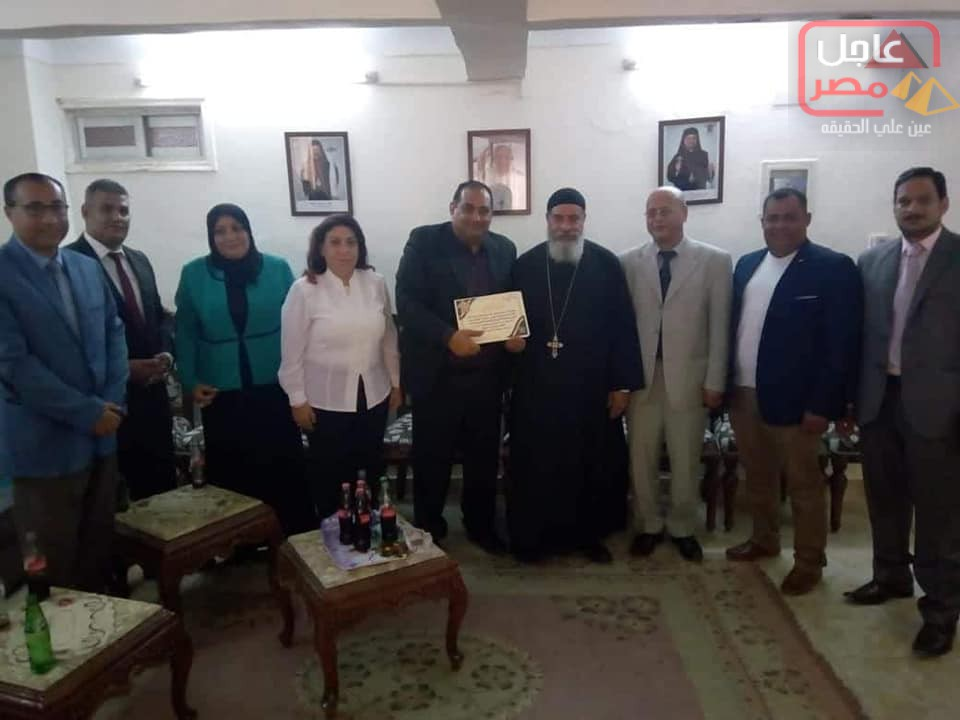صورة برتوكول تعاون بين الجمعية المصرية العربية والكنيسة الكاثوليكية بالبحر الاحمر