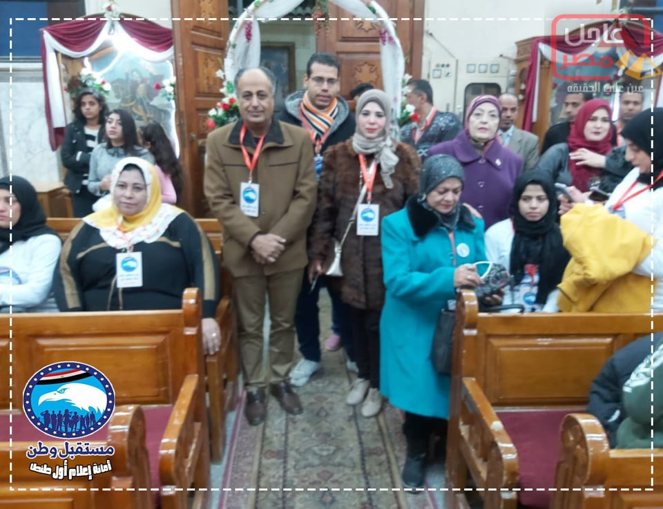 Photo of مستقبل وطن في زيارة لكنائس الدائرة للاحتفال لتقديم التهنئة بعيد الميلاد المجيد