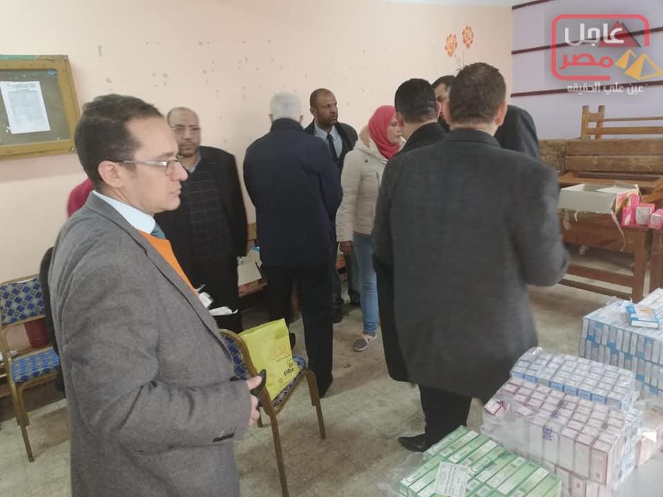 صورة مستقبل وطن ينظم قافلة طبية متكاملة للكشف المجانى بمنطقة العجيزى بطنطا