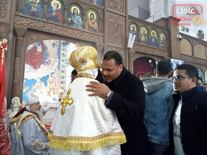 صورة وفد من مستقبل وطن البحر الاحمر يزور كنيسة الغردقة للتهنئة بعيد الميلاد