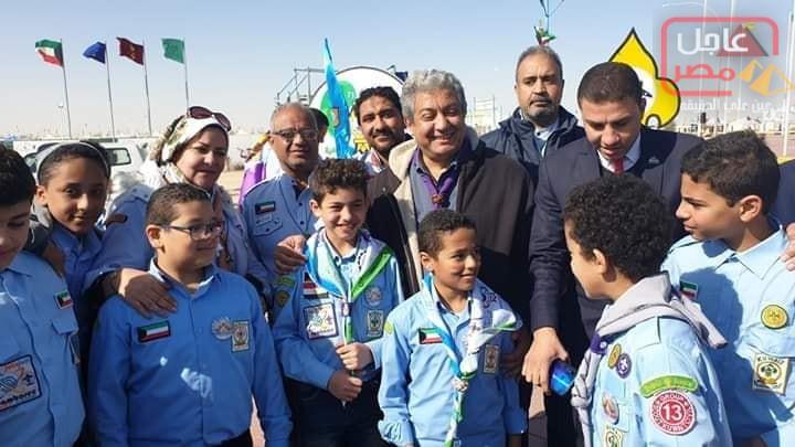 Photo of د.عمرو حمدي الأمين العام للمنظمة الكشفية العربية يتفقد مجموعة الفراعنه الكشفية الجوية بالمخيم الكشفي بالكويت