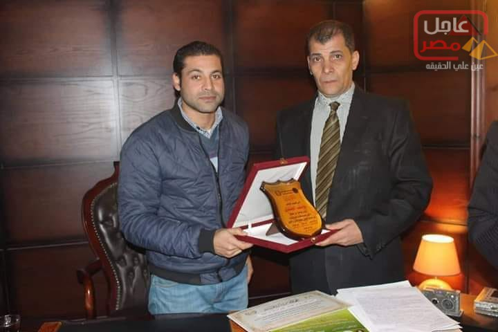 صورة منظمة حقوق الإنسان تكرم الرائد يوسف الجندي بطنطا
