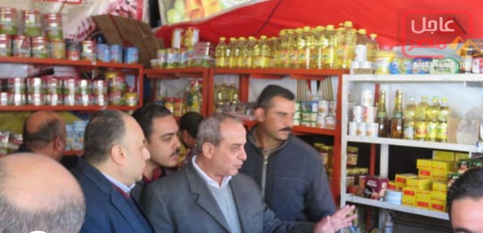 صورة اللواء حمزة مدير أمن الغربية وجولة على منافذ كلنا واحد