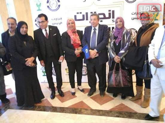 صورة بيت العائلة بالسويس يشارك إنجازات الرئيس فى أوبرا مسرح جامعة مصر