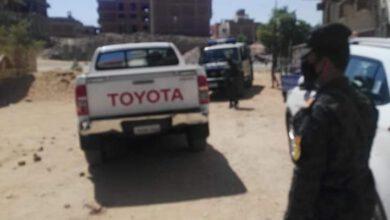 Photo of حي جنوب باسوان التحفظ. علي مواد بناء. ومصادرة الاد وات والمعدات المستخدمة
