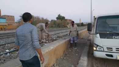 Photo of الوحدة المحلية باسوان. استمرار اعمال النظافةيوميا بنطاق قرية ابوالريش بحري