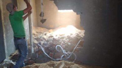 صورة إزالة الدور الحادي عشر بشارع الهلال بحي الجمرك الإسكندرية