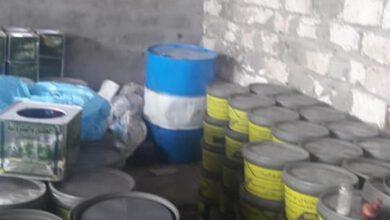 صورة طبط مصنع شحوم سيارات وبه خمسه طن زيوت غير مرخصه بمحلة مرحوم مركز طنطا