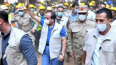 صورة الرئيس عبد الفتاح السيسي يتفقد مدينة مصر الدولة للالعاب الأوليمبية بالعاصمة الإدارية الجديدة